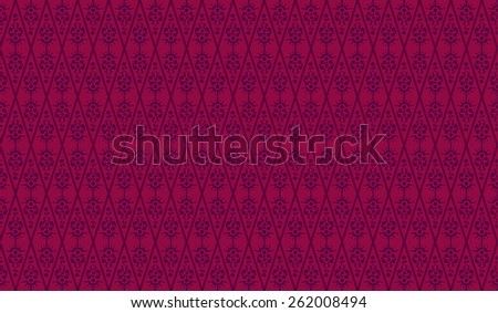 Seamless Floral Floral Wallpaper Pattern in red - stock photo