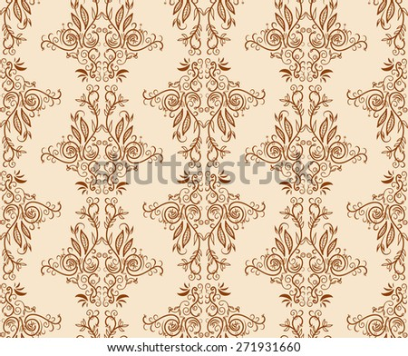Seamless floral hand draw pattern background. Abstract pattern. - stock photo