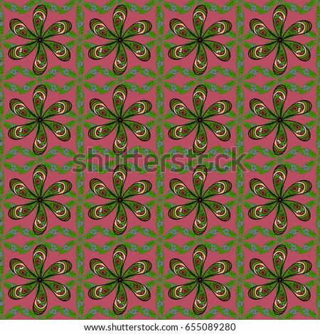 Seamless floral pattern can be used for wallpaper, website background, wrapping paper. Flower concept. Leaf natural pattern in pink colors. Summer design.