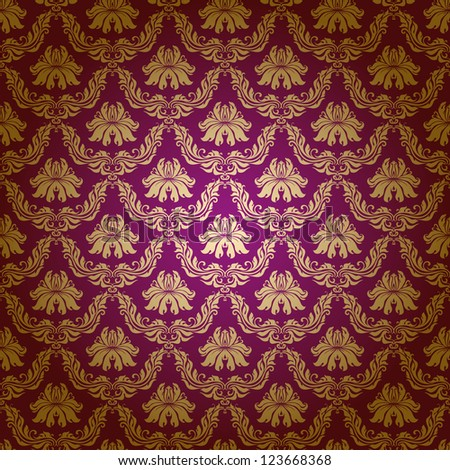 Seamless floral pattern. Flowers on a purple background.