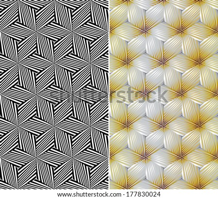 Seamless Floral Pattern. Rasterized Version - stock photo