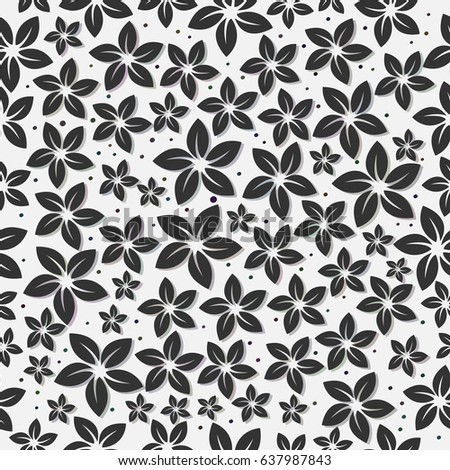 Seamless Floral Pattern Retro Background