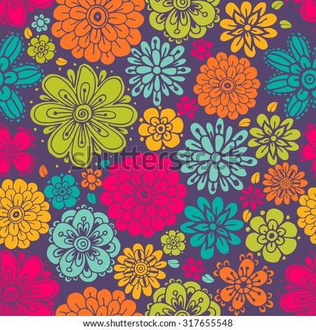 Seamless floral patterns . It can also be used for cloth, bags, notebooks, cards, envelopes, pads, blankets, furniture, packing