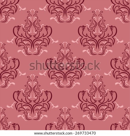 Seamless floral Wallpaper for design. Raster version. - stock photo