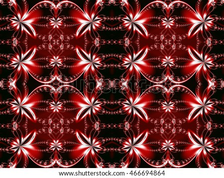 Seamless flower fractal pattern. You can use it for invitations, notebook covers, phone cases, postcards, cards, ceramics, carpets and so on. Artwork for creative design, art and entertainment.