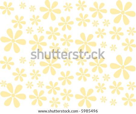 Seamless Flowers Background - stock photo