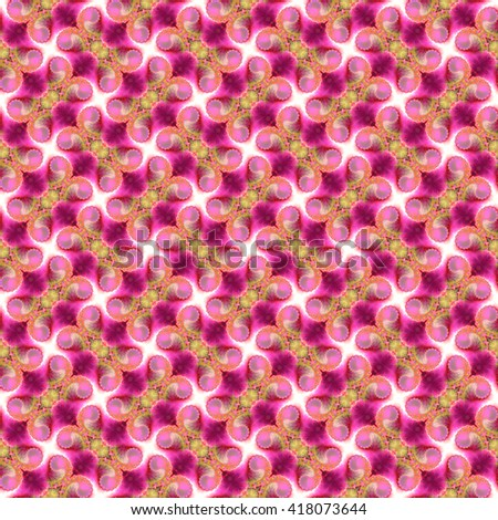 Seamless fractal pattern, crimson. Abstract bright wall-paper, a print for fabric, decorative textiles, packing paper, etc. - stock photo