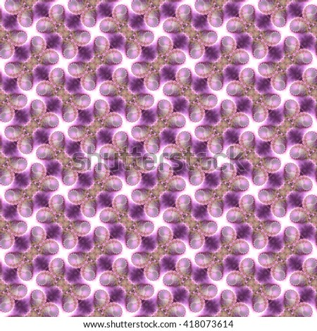 Seamless fractal pattern, lilac. Abstract bright wall-paper, a print for fabric, decorative textiles, packing paper, etc. - stock photo