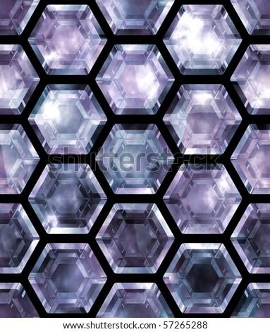 seamless gemstone tiles (big collection) - stock photo