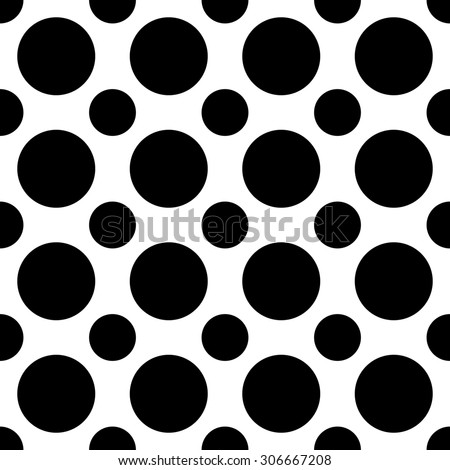 Seamless geometric black and white pattern  for fabric - stock photo