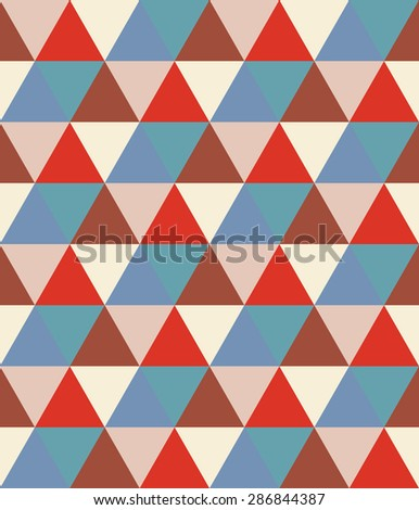 Seamless geometric pattern. Colorful bright background with triangles.