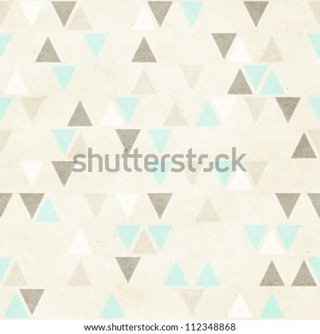 Seamless geometric pattern on paper background - stock photo