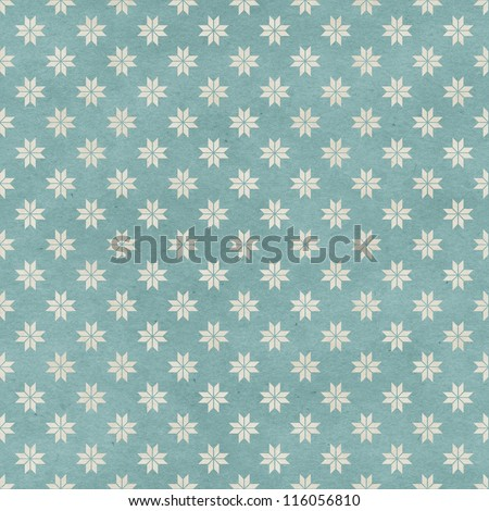 Seamless geometric pattern on paper texture. Simple winter background - stock photo