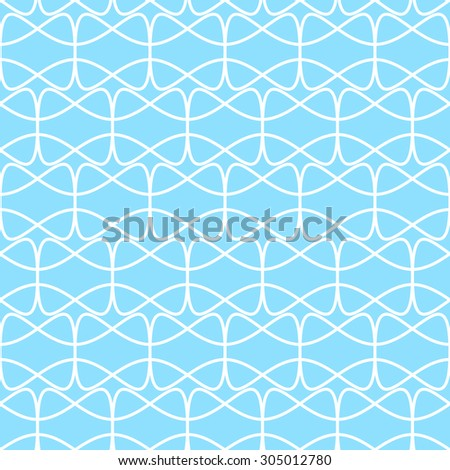 seamless geometric rounded shapes pattern- white on blue
