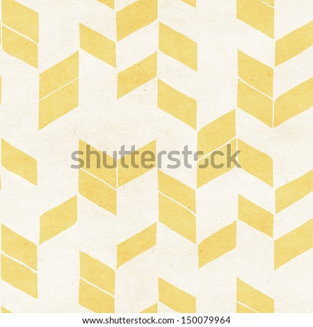 Seamless geometric watercolor pattern on paper texture - stock photo