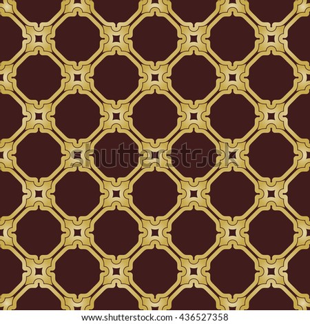Seamless giolden ornament in arabian style. Pattern for wallpapers and backgrounds