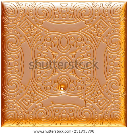 Seamless golden ornament background wallpaper