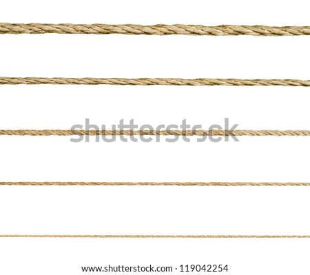 Seamless golden rope on white background