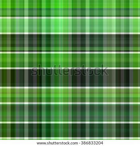 Seamless green background of plaid pattern - stock photo