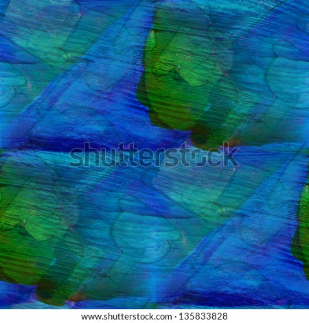 seamless green, blue cubism abstract art Picasso texture watercolor wallpaper background