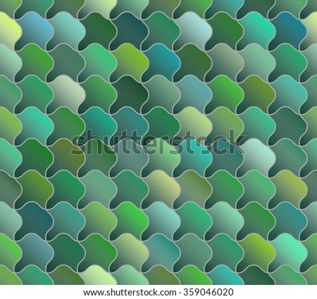 Seamless Green Scales Abstract Background