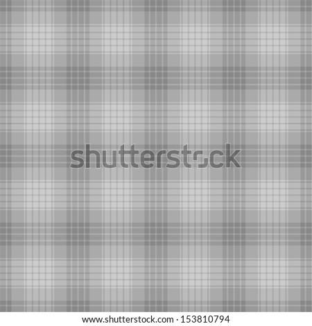 Seamless Grey Plaid - stock photo