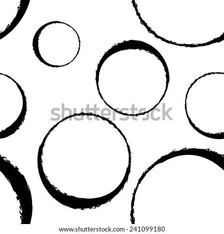 Seamless halftone ring bubble illustration