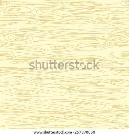 Seamless hand drawn wood texture - stock photo