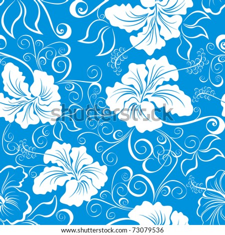 Seamless hawaiian pattern wallpaper