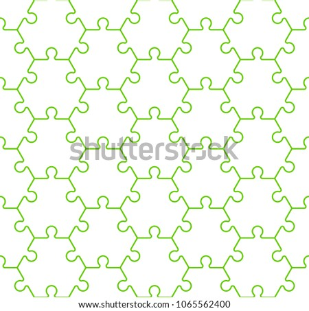 Seamless Hexahedron Puzzle Pattern Hexagon Puzzle Stock Illustration ...
