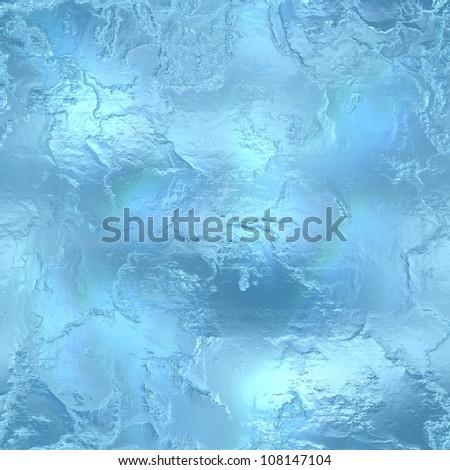 Seamless Hi-res (5000x5000) ice texture - stock photo