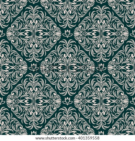 Seamless intricate ornamental Wallpaper for Design. Raster version. - stock photo