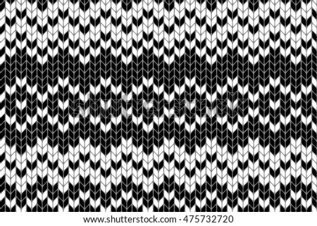 Seamless knitted pattern. Seamless knitted pattern. For your graphic design. Raster version
