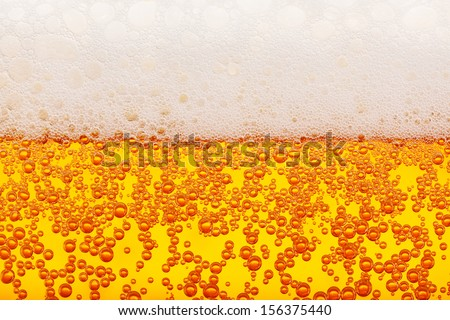 Seamless lager beer bubbles macro and froth texture - stock photo
