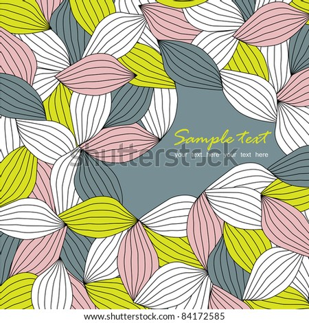 seamless leaf pattern, raster version