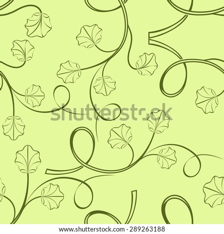 Seamless light green leaves pattern - stock photo
