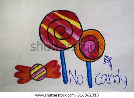 Seamless lollipops background - stock photo