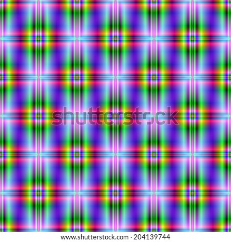Seamless Neon Squares / A digital abstract fractal image with a neon color squared design in blue, violet, green and pink. - stock photo