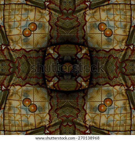 Seamless of the beautiful brown and red spots background made of Cambodian Junglequeen butterfly's wing texture - stock photo
