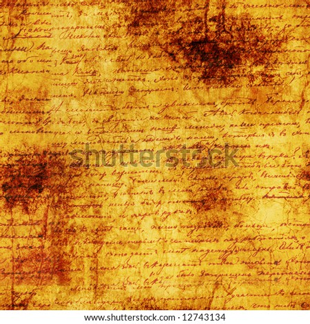 Seamless old letter texture. Very useful. - stock photo