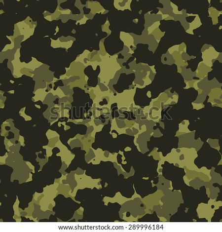 Seamless olive green fashion camouflage pattern - stock photo