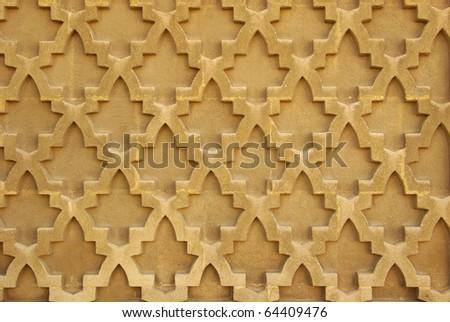 Seamless oriental wall pattern - stock photo