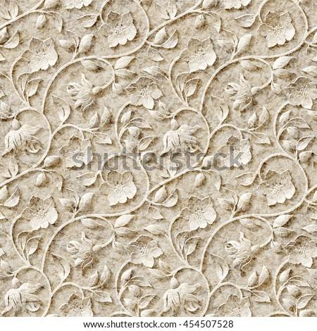 Seamless ornamental pattern. - stock photo