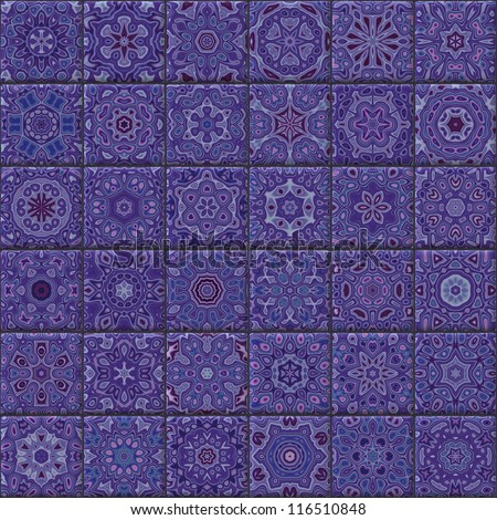 Seamless ornamental tiles - stock photo