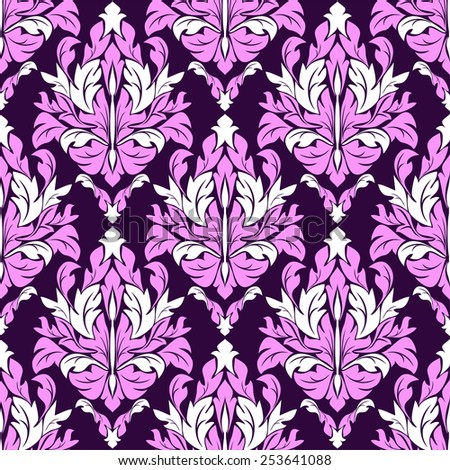 Seamless ornate floral  Pattern. Raster version. - stock photo