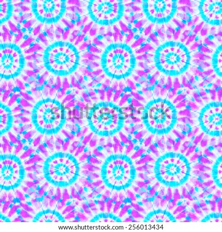 seamless pastel tie & dye pattern. feminine young colors. - stock photo