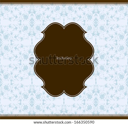 Seamless pattern and decorative frame - stock photo