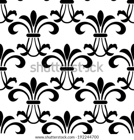 Seamless pattern background with decorative floral elements and embellishments. Vector version also available in gallery - stock photo