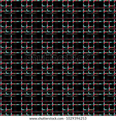 Seamless pattern background with squares and crosses
