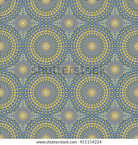 Seamless pattern. Colorful ethnic ornament. Arabesque style